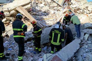 Terremoto - fonte: Protezione civile