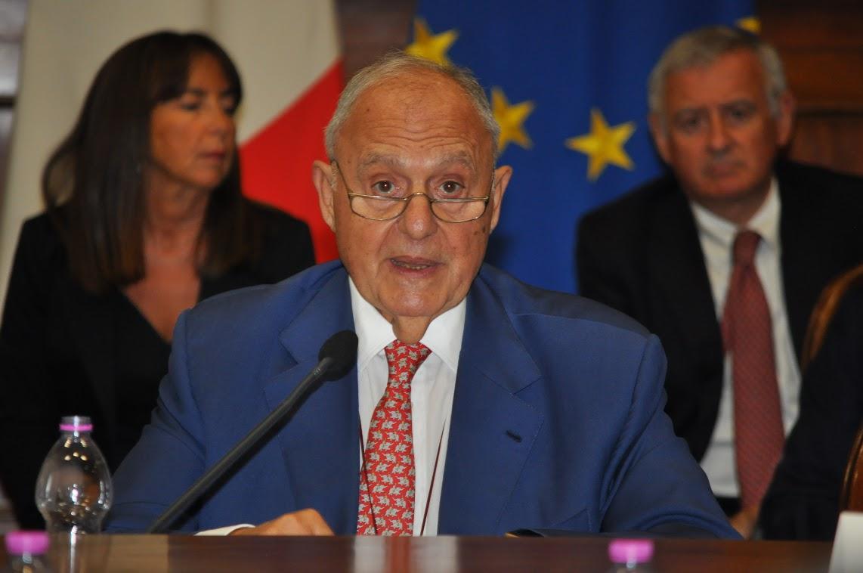 Paolo Savona - photo credit: Dipartimento Politiche europee