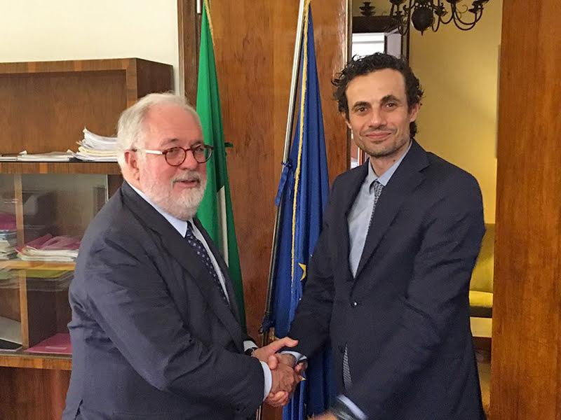 Miguel Aria Cañete e Davide Crippa - Photo credit: Ministero dello Sviluppo economico