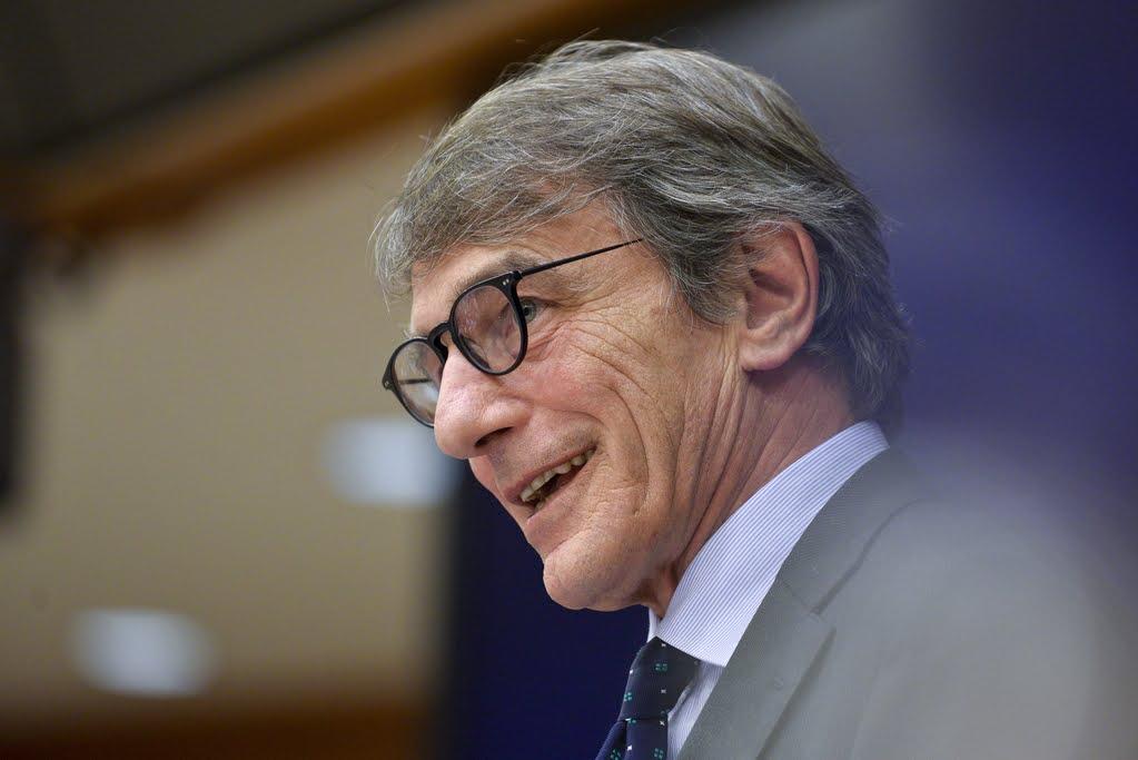 David Sassoli - photo credit Parlamento europeo