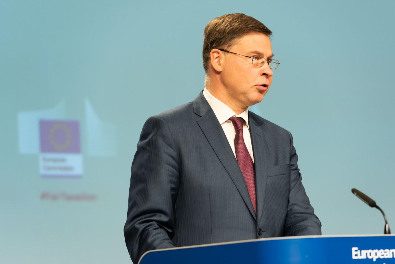 Valdis Dombrovskis - Copyright: European Union, 2020 - Photographer: Aurore Martignoni