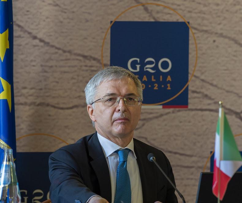 Ministro dell'Economia Daniele Franco -photo credit: profilo Twitter Senato Repubblica